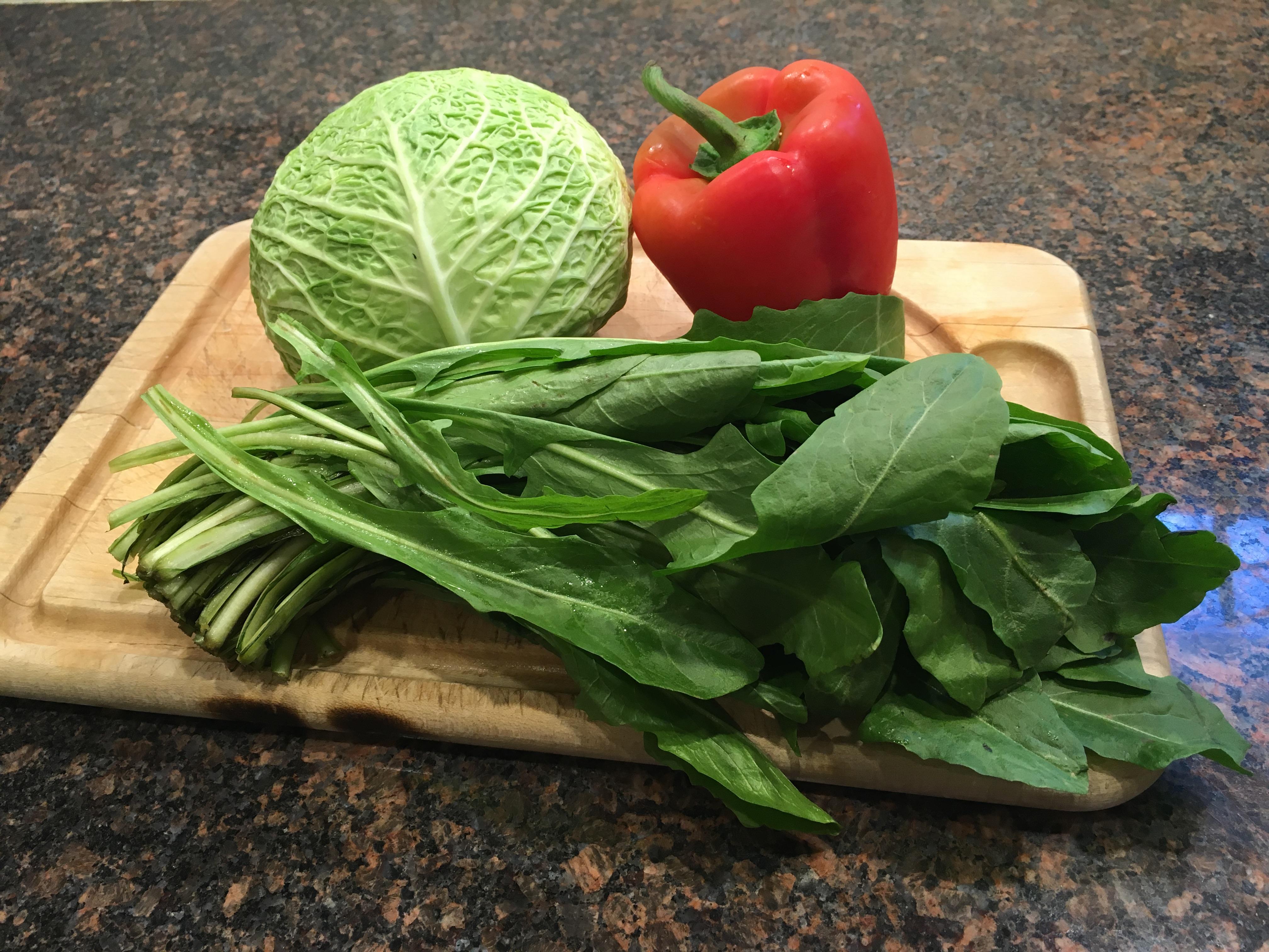 Cabbage Dandelion Pepper