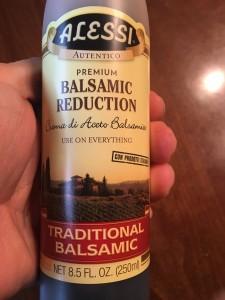 balsamic glaze for pea shoots