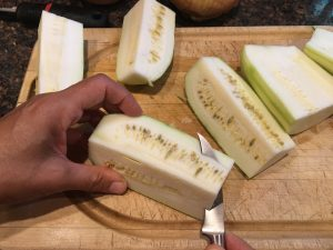zucchini seed removal