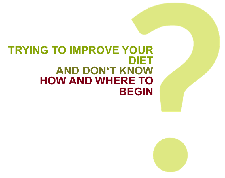 Trying to improve your diet and don't know where to begin?
