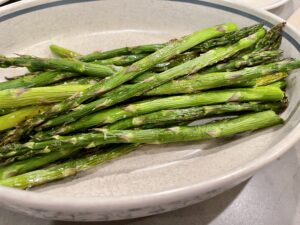 asparagus in dish